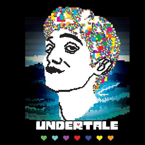Toby Fox Undertale pixelart portrait
