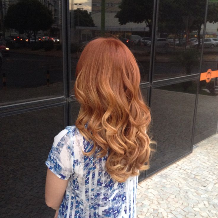 My New Hair Ginger Ombre Cabelo Pinterest Ombre