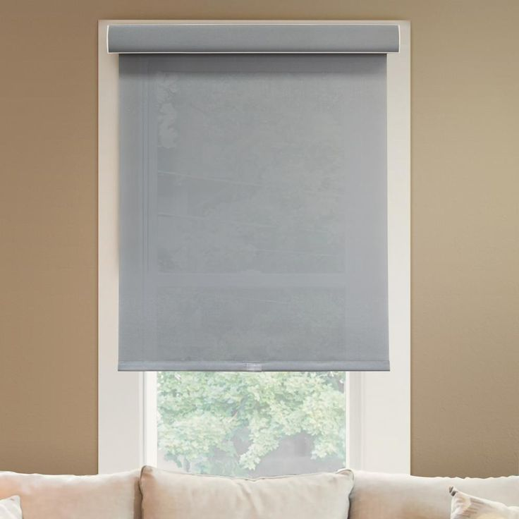 """Chicology Deluxe Free-Stop Cordless Roller Shade / Blind Curtain Drape, No Tug, Light Filtering, Privacy - Urban Grey, 72""""W X 72""""H, Urban Grey (Light Filtering)"""