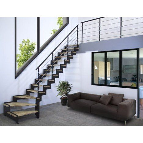les 25 meilleures id es de la cat gorie escalier quart tournant sur pinterest escalier. Black Bedroom Furniture Sets. Home Design Ideas