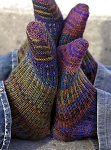 Can't beat hand-knit socks for warmth & comfort!