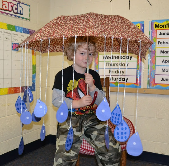 Umbrella and raindrop counting activity