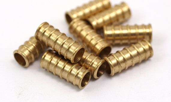 5 Raw Brass Industrial Tube Findings (19 x 8 mm)-in Jewelry Findings & Components from Jewelry on Aliexpress.com   Alibaba Group $6