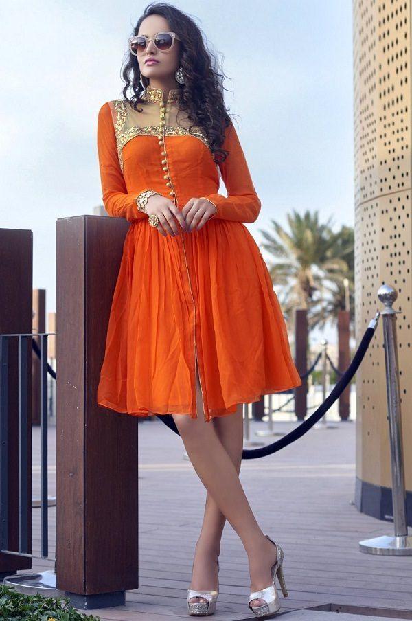 indo western kurti pattern design