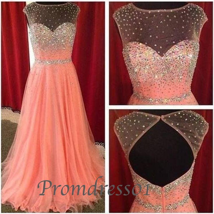2015 cute orange red chiffon + tulle modest open back long prom dress for teens, homecoming dress, evening dress, graduation dress #promdress
