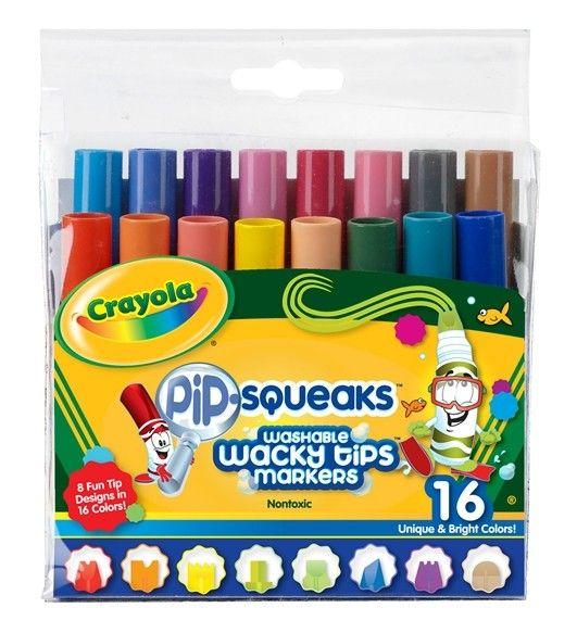 Mini markeerstiften met gekke punten crayola