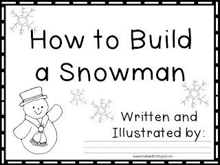 Mrs. Wheeler's First Grade Tidbits: Winter Writing-Fun (and freebie!)