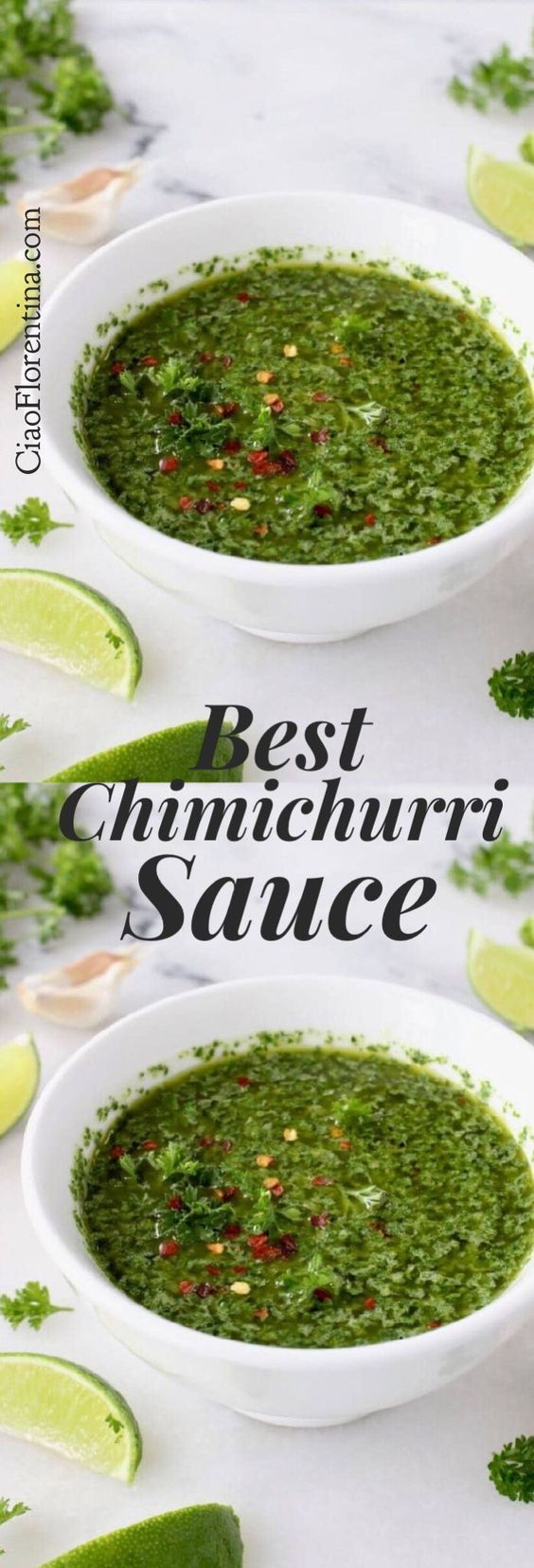 Best Argentinian Style Chimichurri Sauce with Parsley, Garlic and Oregano | CiaoFlorentina.com @CiaoFlorentina