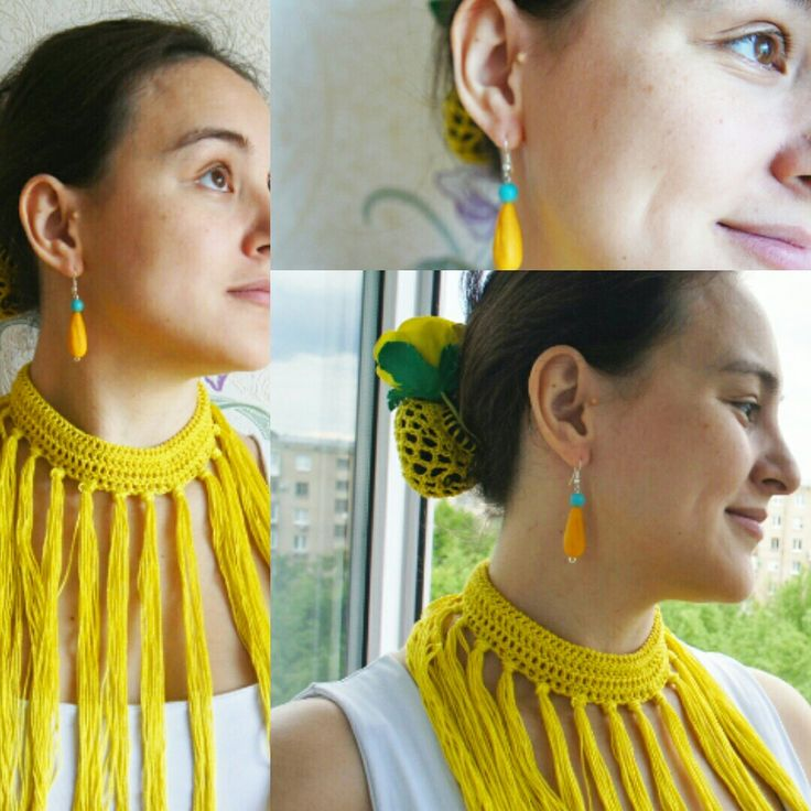 Flamenco Collar Flecos Polymer clay #оляли