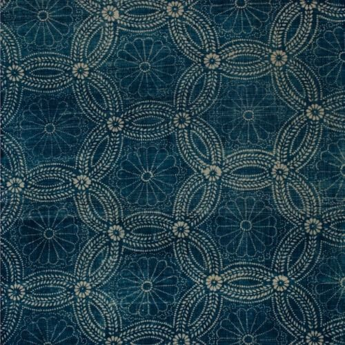 vintage japanese indigo.  I LOVE this fabric.  I wish a current fabric house would copy it.  I would buy it and use it on something.