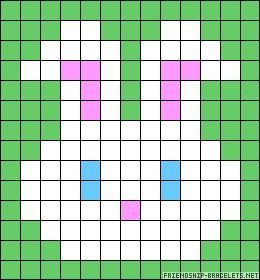 Possible twister quilt pattern from this Bunny perler bead pattern