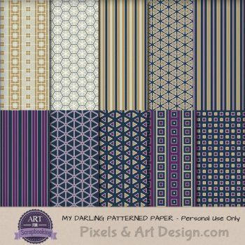My Darling Patterned Papers