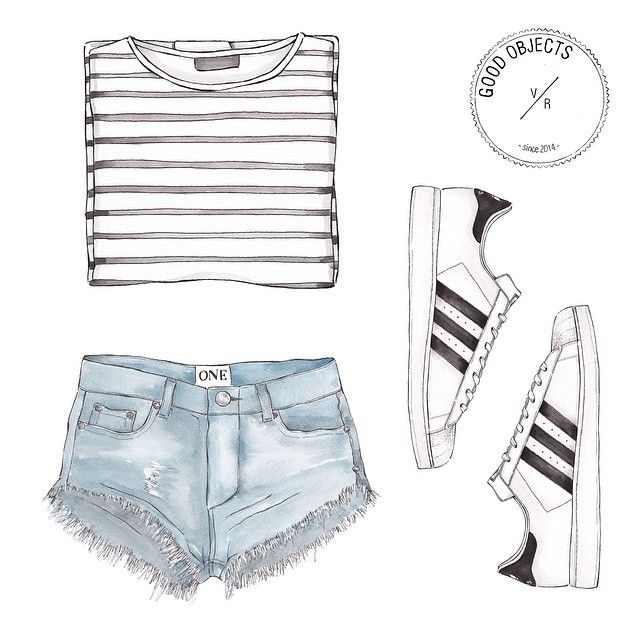 """Good objects - stripes and 3 stripes @adidaswomen @oneteaspoon_ #goodobjects"""