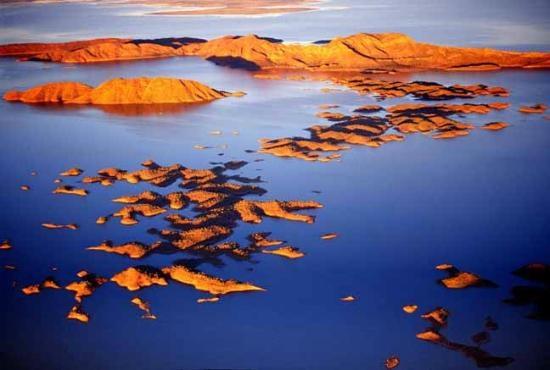 Lake Argyle #Australia   http://www.tripadvisor.com.au/ShowForum-g255103-i531-Perth_Western_Australia.html  Lake Argyle: Aerial view - here are some of the 70 islands found in Australia's largest freshwater lake!