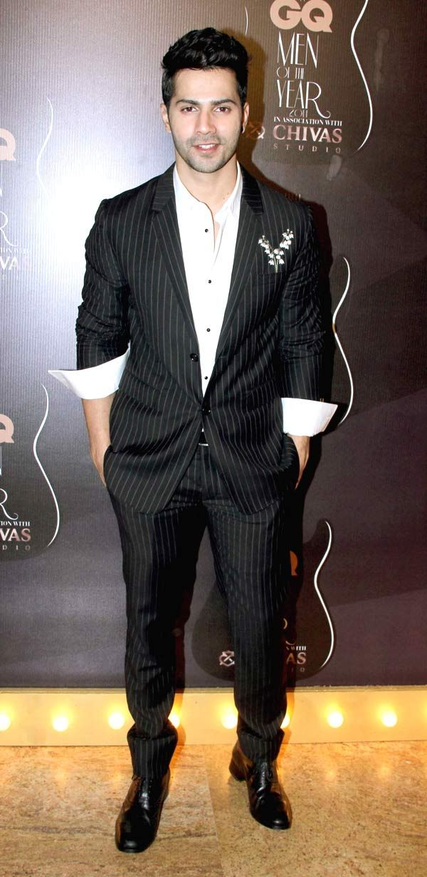 Varun Dhawan at GQ Men's Awards Show 2014.