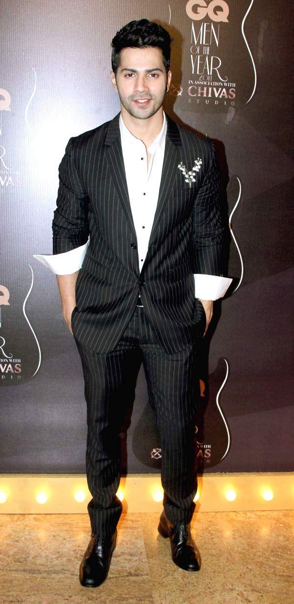 Varun Dhawan at GQ Men's Awards Show 2014.
