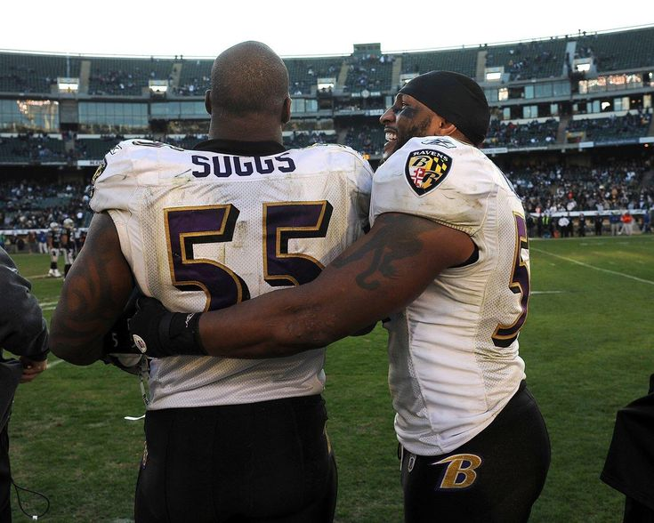 Ray Lewis and Terrell Suggs