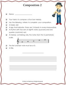 Music Composition: TEN Music Composition Tasks!   ♦ Each task has a different set of requirements for the student to fulfill when composing their melody.    ♫ CLICK through to take a closer look or repin for later!!  ♫