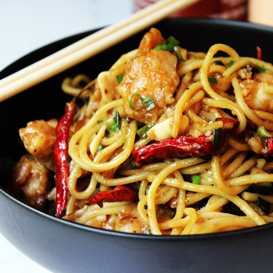 Savory, spicy & sweet, California Pizza Kitchen Kung Pao Chicken Spaghetti is a best seller & mine has 50% less calories & all the taste!