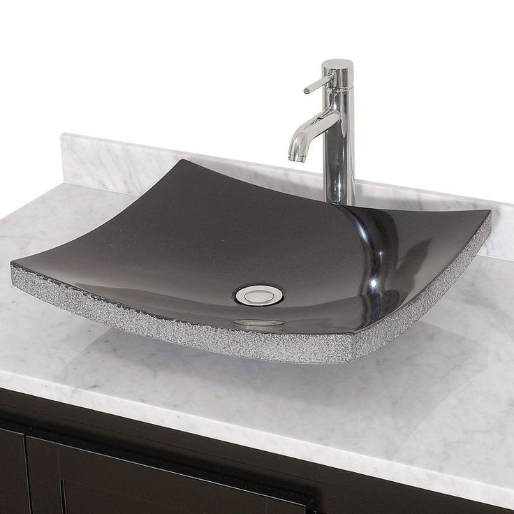 Contemporary Art Websites Buy the Wyndham Collection Black Granite Direct Shop for the Wyndham Collection Black Granite Altair Rectangular Black Granite Vessel Lavatory Sink and