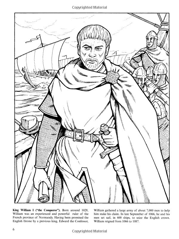 Kings and Queens of England Coloring Book (Dover History