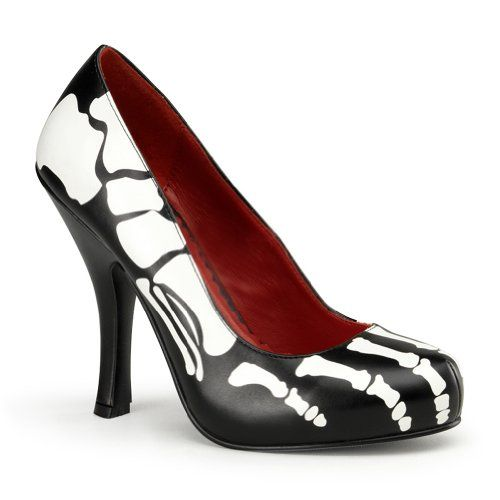 4 1/2 Inch High Heel Shoes Skeleton Costume Shoes Black Pumps Bones « Clothing Impulse