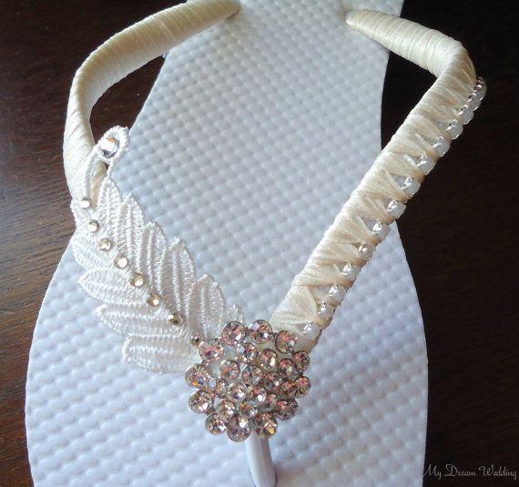 Fracasos de tirón de Marfil. hojas de perlas y por MyDreamWedding