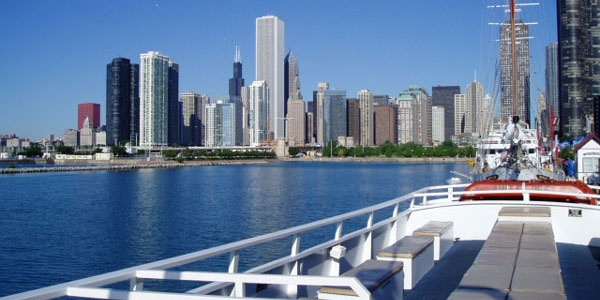 Charter a yacht.  How cool is that. http://www.chicagotraveler.com/anita-dee-yacht-charters