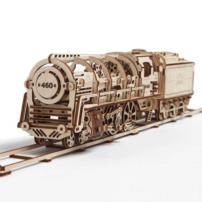 UGEARS - stoomlocomotief - trein bouwpakket