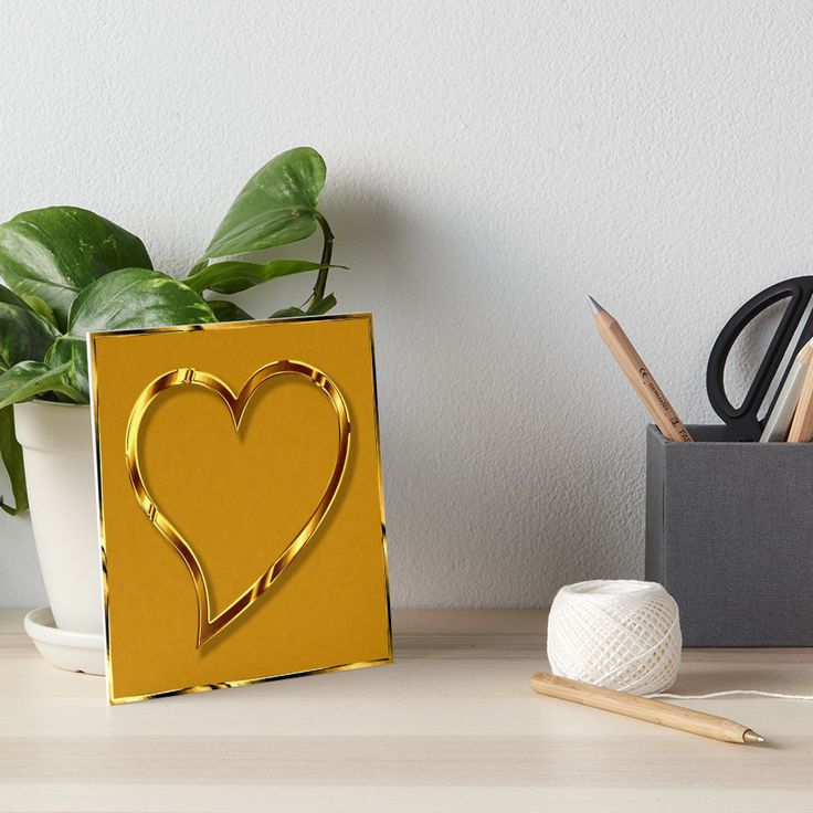 Golden Valentine heart. • Also buy this artwork on wall prints, apparel, stickers, and more.
