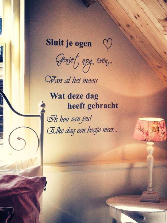 spreuken over slapen Slaap lekker! | Life   Bedroom, Quotes en Home spreuken over slapen