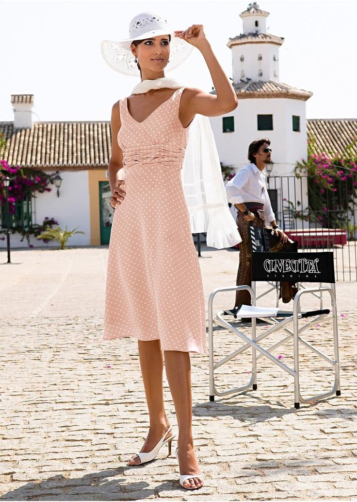 La robe marron clair/blanc à pois - bpc selection - bonprix.fr