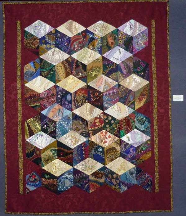 crazy quilt images | ... my diamond quilt here is a photo of the diamond quilt on the wall