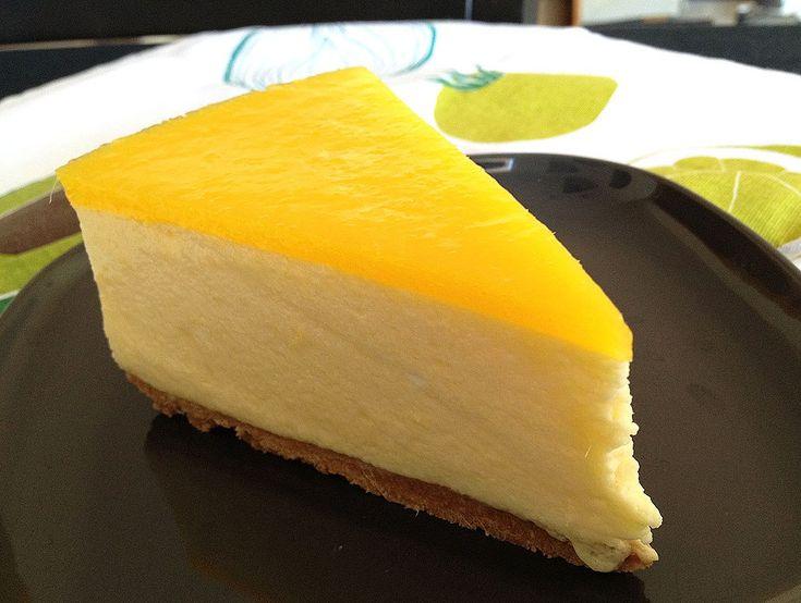 Tarta de mousse de mango Denikatessen