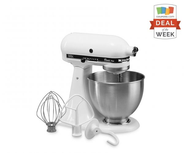 Don't miss this KitchenAid Mixer Sale! Thanks to a coupon code + mail-in rebate, this is the lowest KitchenAid mixer price out there.