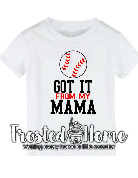 Got it from my Mama Softball Tee Softball Baseball by FrostedHome