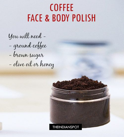 SKIN FIRMING MASK AND SCRUB WITH COFFEE