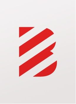 stripy b - what looks alike belongs together/is a group/is seen as whole (red stripes) + association of shapes you know.