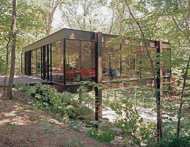 Ben Rose house by architects A. James Speyer and David Haid in Highland Park, Illinois, US, 1954 and 1974