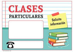 Cartel Clases Particulares Clasesparticulares Profesor Clases