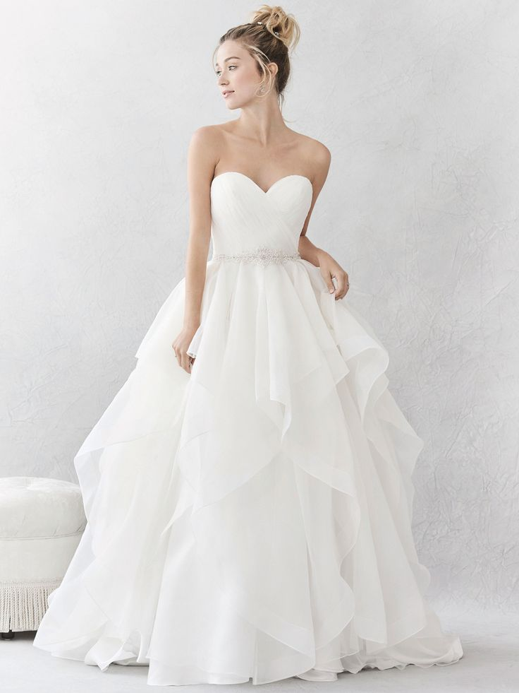 Ella Rosa Style BE376 | lovely textured organza princess gown | romantic wedding dress | bridal gown