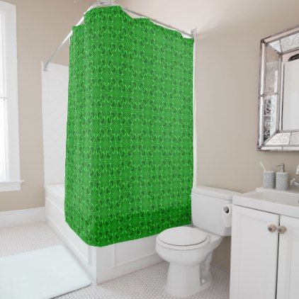 Celtic Clover   Vintage Green  Shower Curtain - home gifts ideas decor special unique custom individual customized individualized