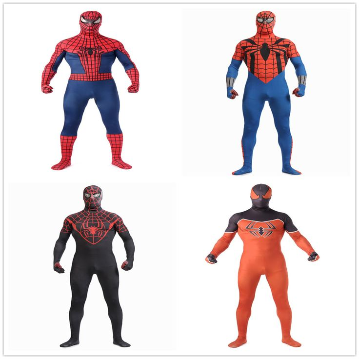 wholesale breathable material 2013 new  Spiderman Costumes Zentai suits printed  Lycra Spandex   Halloween Costumes cosplay #Costume #Cosplay