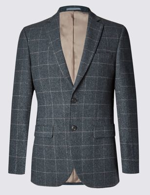 Big & Tall 2 Button Checked Jacket