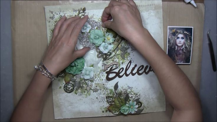 ''Believe'' - Mixed Media Layout Tutorial for Lindy's Stamp Gang
