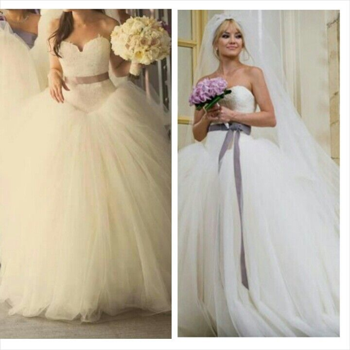 Bride wars kate hudson vera wang dress vera wang for Dresses to wear to a day wedding