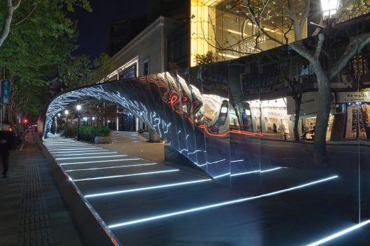 "UNStudio's ""kaleidoscopic catwalk"" installation from the RIBA Shanghai Windows Project 2014 | Photo: Benoit Florençon | Bustler"