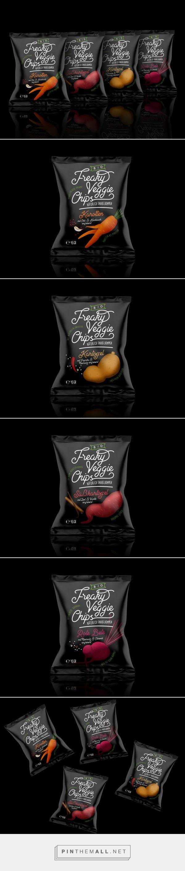 Freaky Veggie Chips packaging design concept by TIBOR+ - https://www.packagingoftheworld.com/2018/03/freaky-veggie-chips.html