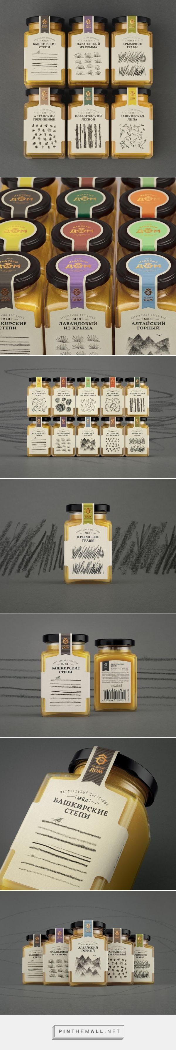 Honey House packaging designed by Masha Ponomareva (Russia) - http://www.packagingoftheworld.com/2016/03/honey-house.html