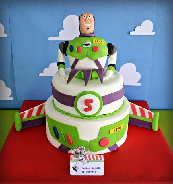 Incredible cake at a Buzz Lightyear Birthday Party!  See more party ideas at CatchMyParty.com!